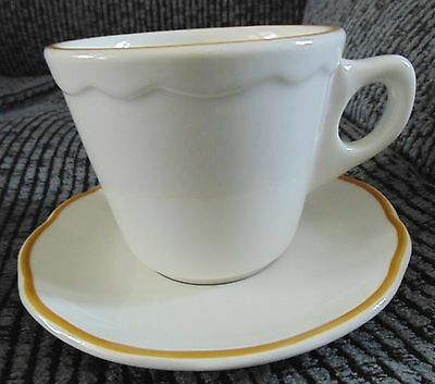 Cup and Saucer Buffalo Pottery Pattern BUF36