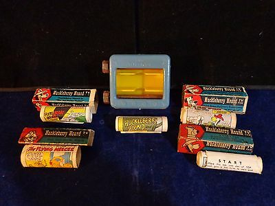 Vintage Lido Hanna Barbera Huckleberry Hound & Friends Carton Strips and Holder