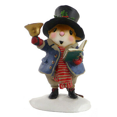 POPPA CAROLER by Wee Forest Folk, WFF# M-420, Caroling Mouse