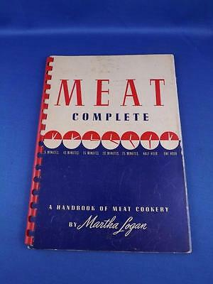Meat Complete Recipes A Handbook Of Meat Cookery Martha Logan 1942 Swift Co.
