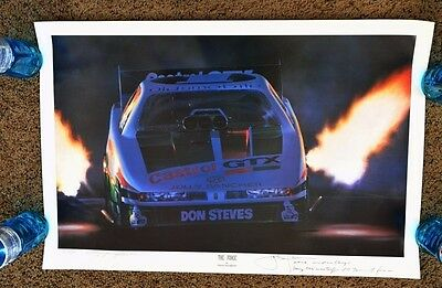 Kenny Youngblood Signed Le Lithograph The Force John Winston Nhra Champion