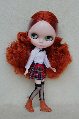 """12"""" Takara Neo Blythe Dolls From Factory Nude Dolls Brown Red Curly Hair 2509L"""