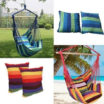New Chair Hanging Rope Swing Hammock Outdoor Porch Patio Yard Seat 2 Colors