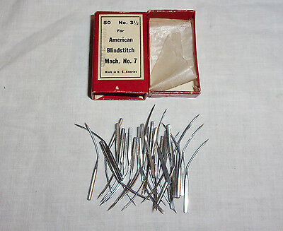 28 NOS American Blind Stitch Sewing Needles No 3 1/2 for Mach. No. 7