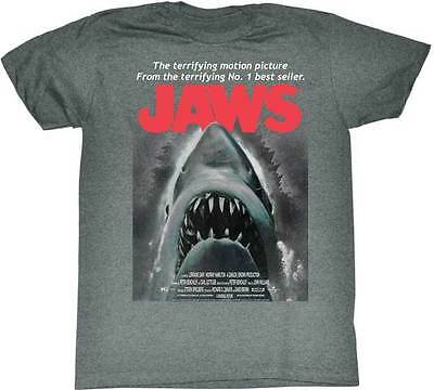 Jaws The Terrifying Motion Picture Adult T Shirt Great Classic Movie