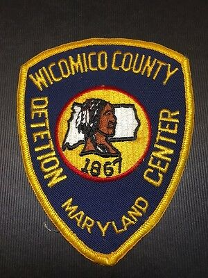 Wicomico County Maryland Detetion Center  Shoulder  Patch