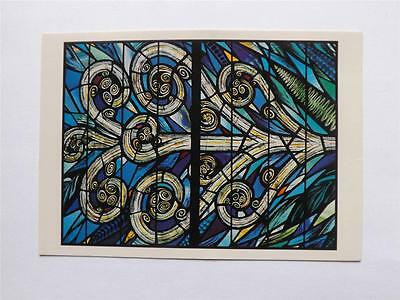 Postcard Christchurch Cahedral New Zealand Scott Window Stained Glass