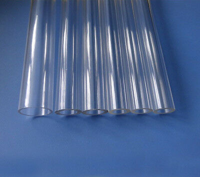 300mm long 5mm-30mm outside diameter transparent acrylic hollow tube PMMA pipe