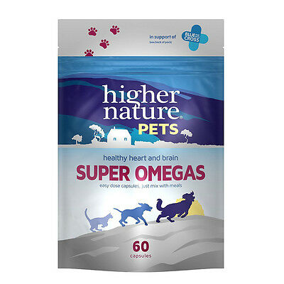 Higher Nature Super Omegas For Cats & Dogs 60 Capsules