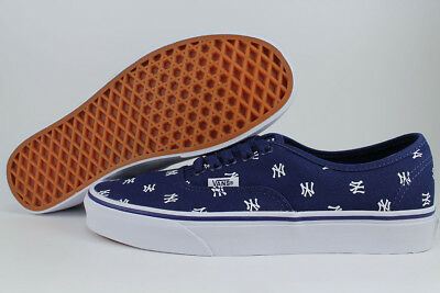 Vans Authentic Mlb New York Yankees Navy Blue white Repetitive Ny Baseball  Mens 168cfdf5e