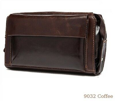 Genuine leather mens large wallet organiser purse mens real leather wallet 9043