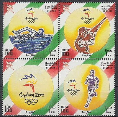 Oman 2000 ** Mi.492/95 Zdr. Olympische Spiele Olympic Games