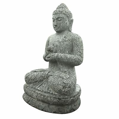 dekofigur gartenfigur buddha sitzend stein figur garten. Black Bedroom Furniture Sets. Home Design Ideas