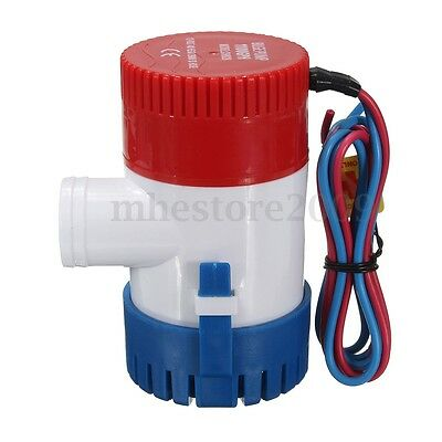 1100 GPH 7A 12V Rule Marine Boat Bilge Water Pump Submersible for Yacht RV Pool