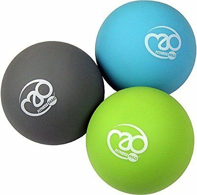 Fitness Mad Muscle Exercise Therapy Trigger Point Massage Ball Set of 3 Assorted