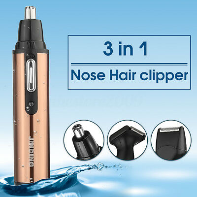 3 in1 Men's Electric Personal Ear Neck Eyebrow Nose Beard Hair Trimmer Remover