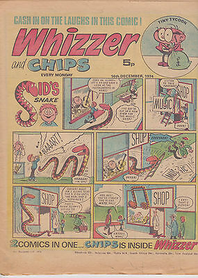 Whizzer and Chips Vintage Old UK Paper COMIC 14 December 1974 Birthday Gift