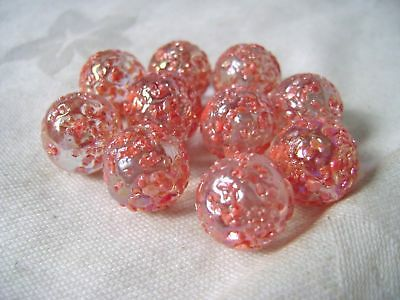 NEW 10 PRINCESS 14mm GLASS MARBLES TRADITIONAL GAME or COLLECTORS ITEMS HOM