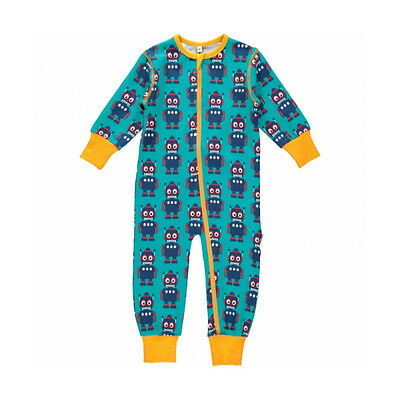 BNWYT Baby Boys Girls Maxomorra Robot Zip Sleepsuit NEW Organic Cotton Romper