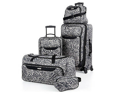 TAG Springfield 5-Piece Luggage Set - Black Print