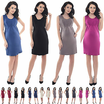Purpless Maternity Stunning Sleeveless V-Neck Pregnancy Dress Dresses Top D8437
