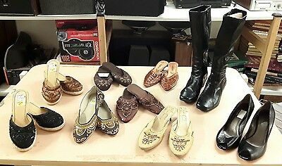 Womens Size 8 Heels, Boots, Flats And Wedge Heels Lot Of 9 - New & Pre-Owned