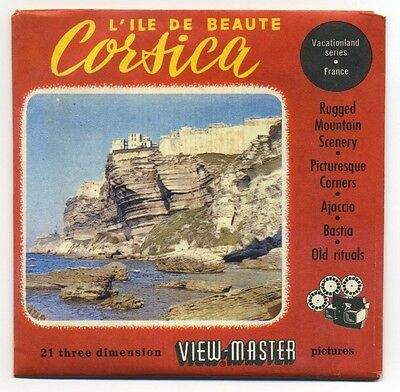 Lile De Beaute CORSICA France ViewMaster Packet Reels 1480 1481 1482 Exc. Cond.