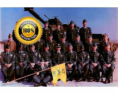 Elvis Presley-32nd Armor Regiment Group Color Photo-Free Shipping-USArmy Germany