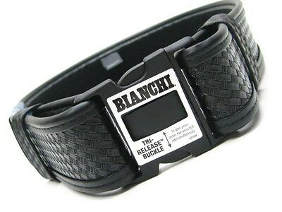 "BIANCHI Medium 34""-40"" Waist Black 7950 Basketweave ACCUMOLD ELITE Duty Belt!"