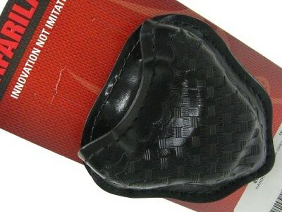 SAFARILAND Black BASKET WEAVE Open Top HANDCUFF Cuff Case Pouch New! 090-18