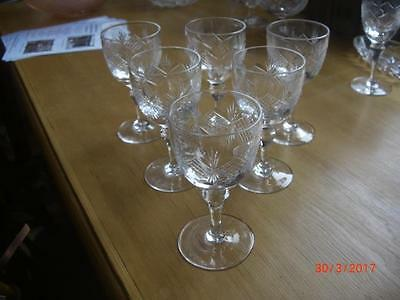 6 x Vintage Thomas Webb Port Glasses 1935 - 49