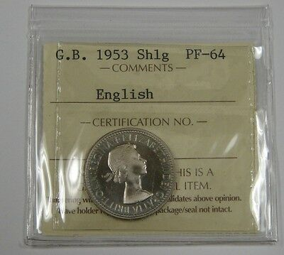 Great Britain - 1953 - Proof Shilling - English - Nice High Grade