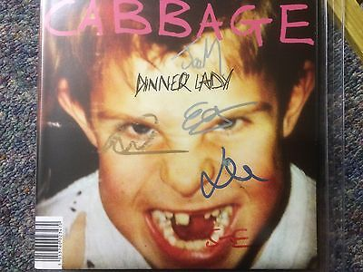 "Cabbage Dinner Lady 7"" Single Vinyl Fully Signed By Band Buy It Now"