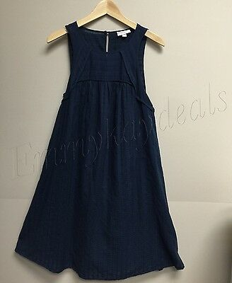 1dba5232b58 LIZ LANGE MATERNITY Tank Gauze navy blue dress size Medium New ...