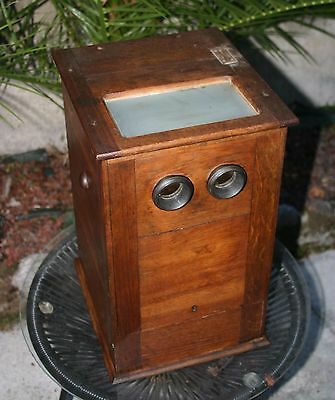 Ancienne VISIONNEUSE STEREOSCOPE 1900 + 16 vues stereo FRANCE ITALIE BELGIQUE