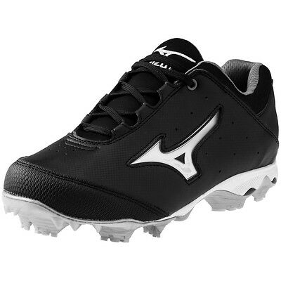 Mizuno Finch Elite Switch Women's Softball Cleats NIB Black/White Size 8