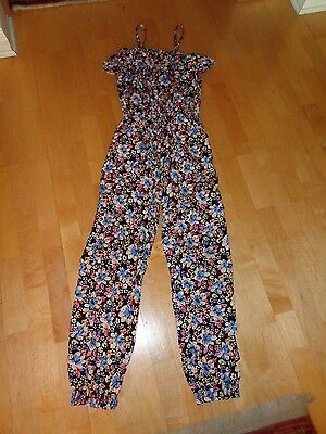 STAR RIDE Floral Print One Piece Jumpsuit Girls Size Large 14 16