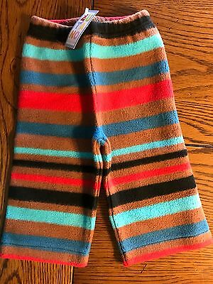 *NWT ZUTANO* Unisex Boys Girls Cozie Bold Stripe Black Fleece Pants Sz 6 Months