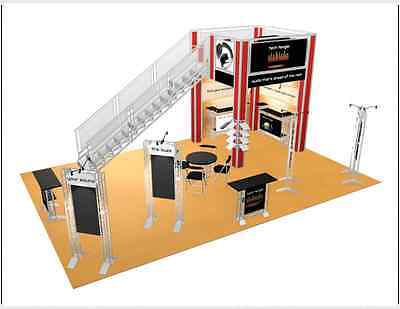 Double Deck Trade Show Booth Exhibit 20 x 30 Display