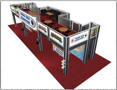 Double Deck Trade Show Booth Exhibit 20 x 60 Display