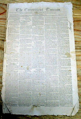 1803 newspaper DeWITT CLINTON named MAYOR of NEW YORK CITY when previous resigns