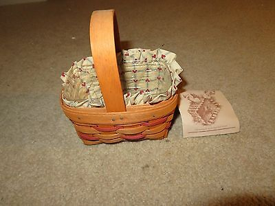 Longaberger 1990 Sweetheart Basket With Liner & Protector See My Store
