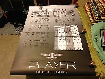 GUITAR CHORD CHART Poster 22 x 34 by Keith Urban Player Edition ...