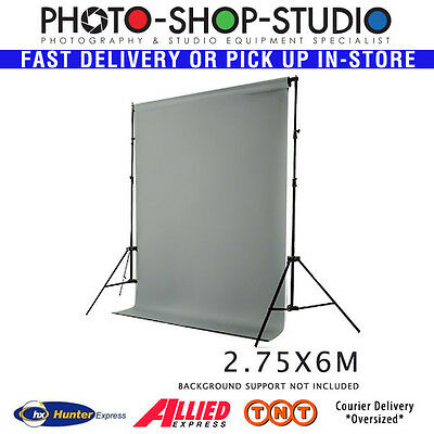Fotolux 2.75m x 6m Grey Photographic Background Vinyl 510 g/sm thickness