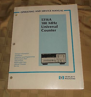 Hewlett Packard HP Operating & Service Manual 5316A 100 MHz Universal Counter