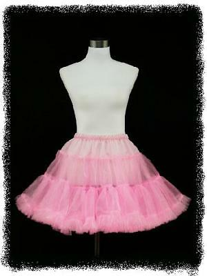 "dress190 Clearance Pink 50s Prom Pinup Swing 22"" Petticoat/Underskirt 8-22"