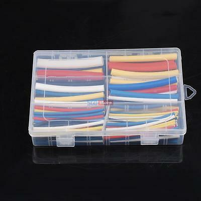 180Pcs Cable Heat Shrink Tubing Sleeve Wire Wrap Tube 3:1 Assortment Kit Box Set