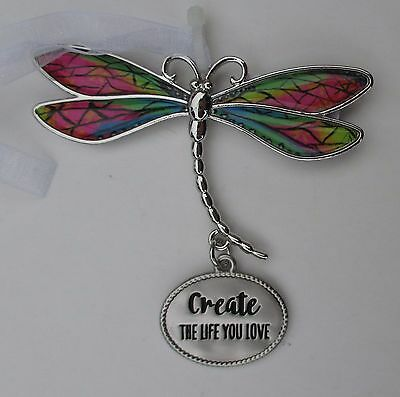 aa Create the life you love DELIGHTFUL DRAGONFLY ORNAMENT CAR CHARM Ganz faith