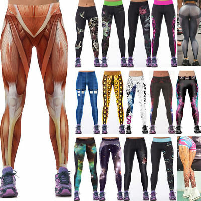 Plus Size Womens Yoga Workout Gym Leggings Fitness Sports Trouser Athletic Pants