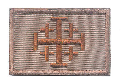 Cross Templar Crusaders Knights Christian Army Insignia Hook & Loop Patch